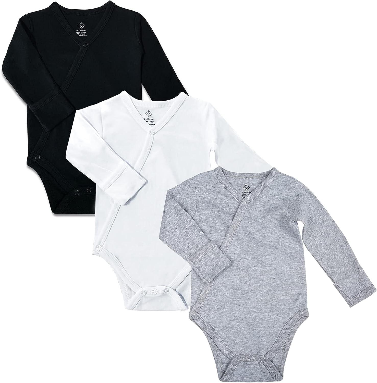 OPAWO SALENEW very popular! Baby 3-Pack Side Snap Bodysuit wit Sleeve Long 100% quality warranty Cotton
