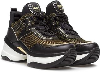 Sneakers Mujeres MICHAEL KORS 43R1OLFS6D Olympia Cuero Tejido Negro Or