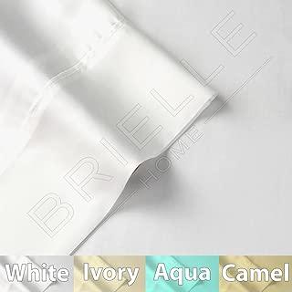 Brielle Tencel-Lyocell Sateen Sheet Set, Made from Eucalyptus, Twin, White
