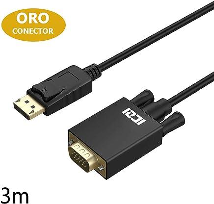 Cable de Monitor S-VGA Conector D-Sub 1080p Full HD Protegido Protector 2 Filtro de Ferrita Contactos Chapados en Oro deleyCON 1m Cable VGA 15pin