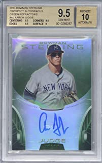 Aaron Judge Signed Auto 2013 Bowman Sterling Prospect Green Refractor BGS 9.5 10
