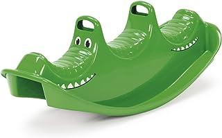 Dantoy - Mecedora y balancín para 3 personas, plástico resistente con 3 asientos, fabricado en Dinamarca, cocodrilo verde