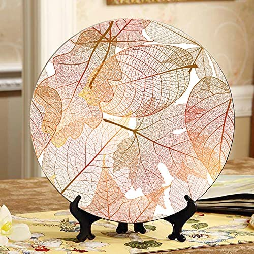 Gold Leaf Autumn Leaves Decorative New arrival Wall Kitchen Cheap bargain for Plate Plates