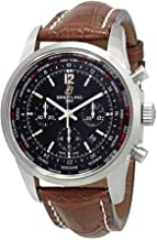 Breitling Transocean Unitime Pilot Chronograph Automatic Chronometer Men's Leather Watch AB0510U6/BC26-756P