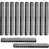 12 Pieces Carbon Fine Cutting Comb Carbon Fiber Salon Hairdressing Comb Hairdressing Comb Heat Resistant Barber Comb (Black)