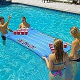 Grand flotteur gonflable de piscine avec porte-gobelet, boire de bière gonflable en plastique pour bière, pong, table de fête, piscine, lounge, radeau pour adultes, 57 x 23,6 cm