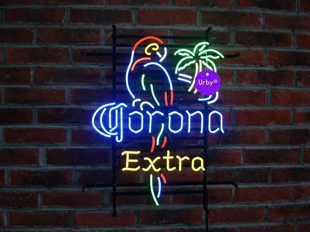 iNG LED Light Large discharge sale Neon Sign 24inx20in Corona Extra Be Larger Parrot2 Long Beach Mall