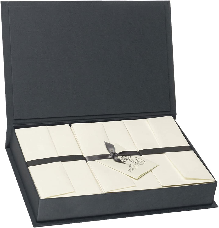 Rössler 1051222201 1051222201 1051222201 - Bütten Flanell - Briefpapierkassette, 50 50, DIN A4 DL, schwarz weiß B0070ATWKW    Einfach zu spielen, freies Leben  64c97f