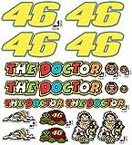 Kit de adhesivos Valentino Rossi The Doctor 46 Logo Panel entero 18 piezas Oferta Moto Casco Motocicleta