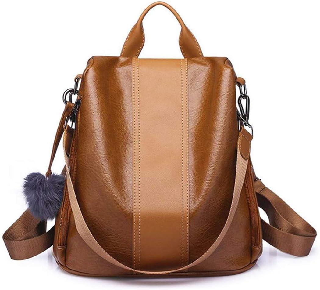 Casual Pu Women Anti-Theft Backpack Vintage Backpacks Female Larger Capacity School Shoulder Bag black
