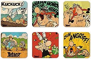 Comics - Astérix el Galo - Asterix & Obelix - Gallos valientes - Juego de posavasos de nevera - Juego de 6 coaster - multicolor - Diseño original con licencia - Logoshirt