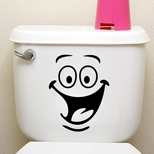 Funny Animation Big Eyes Toilet Wall Decal Home Sticker Living Room Bedroom Kitchen Art Picture DIY PVC Murals Vinyl Paper House Decoration Wallpaper For Children Nursery Baby Teen Senior Adult