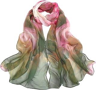 وشاح نسائي من الحرير من EdTHA أوشحة رأس زهرية وشاشات واقية من الشمس