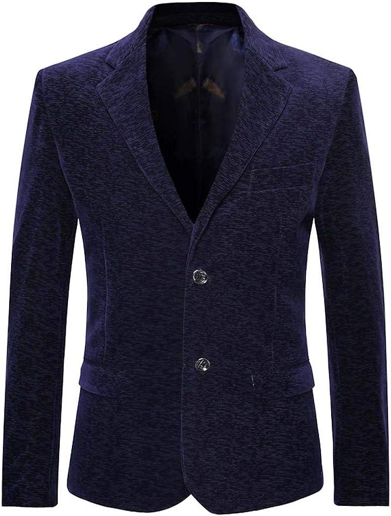 Men's Turn-Down Collar Suit Long Sleeve Casual Suit Slim Coat Jacket