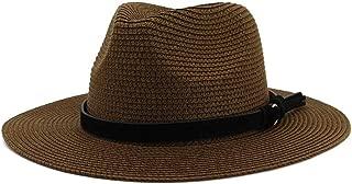 LiWen Zheng New Summer Hat Panama Hats Hollow Out Straw Hat For Men Women Leather Ribbon Large Brim Sun Beach Hat Jazz Cap Fedora
