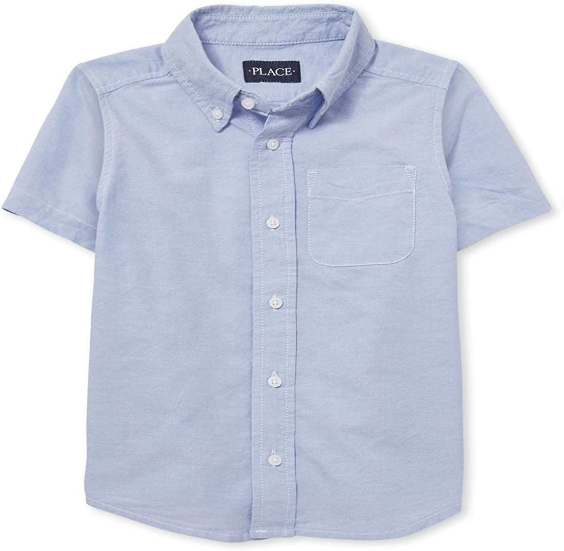 The Children's Place Boys' Short Sleeve Oxford Shirt