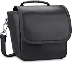 Fintie Carrying Case Compatible with Polaroid Originals OneStep 2 VF Instant Film Camera - Premium Vegan Leather Travel Bag Soft Pouch w/Removable Strap & Pocket (Black)