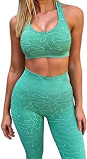 MAYFASEY Workout Sets for Women 2 Piece, Yoga Fitness Exercise Outfit, Gym Clothes for Women Matching Set