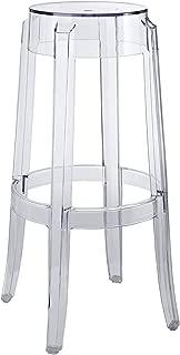 Modway Casper Modern Acrylic Bar Stool in Clear - Fully Assembled (Renewed)