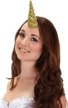 elope Gold Glitter Unicorn Horn Headband for Women