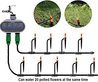 Two-Way Irrigation Controller, Intelligent Sprinkler Drip Irrigation System, Anti-Blocking Nozzle, Programmable Timing, fo...