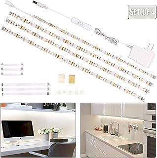 wobsion White Led Strip Lights, Under Counter Lights for Kitchen, Flexible Under Cabinet Led Light for Kitchen,Shelf,Cupbo...