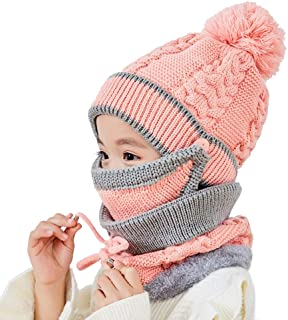 L O L Surprise! | Warm Cosy Gloves Scarf /& Gloves Set Glam Glitter Series Girls Kids 3 Piece Cute Hat Fleece Scarf Knitted Pom Pom Hat