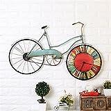 reloj de pared,reloj de pared adhesivo,reloj de pared grande,reloj de pared silencioso,reloj de pared vintage.Retro europeo creativo antiguo bicicleta reloj de pared/reloj de pared