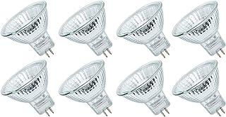 Ampoule Halogène MR16 50W 12V, Blanc Chaud 2800K Intensité Variable, Lot de 8