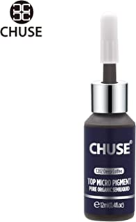 CHUSE T202, 12ml, Deep Coffee, Passed SGS,DermaTest Top Micro Pigment Cosmetic Color Permanent Makeup Tattoo Ink