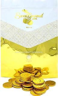 SweetGourmet Milk Chocolate Gold 50c Coins | Premium Belgian Chocolate | 3 Pounds