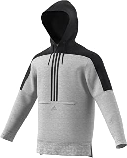 adidas Mens Sport ID Pullover Cotton Hoodie
