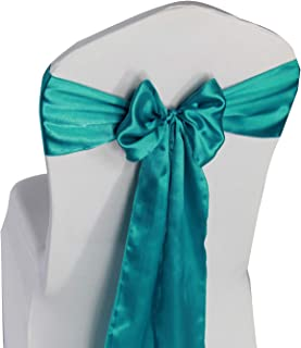 Best teal blue chair sashes Reviews