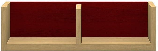 パモウナ(Pamouna) ラック 本体:ホワイトオーク/バックボード:レッド 横幅:60・奥行17・高さ17.6cm