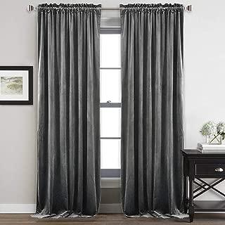 Best grey velvet drapes Reviews