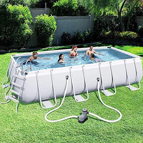 JWCN Familien-Planschbecken Whirlpool-Schwimmbecken Große Halterung Adult Kids Home Übergroßes Planschbecken-Aquarium im Freien Uptodate