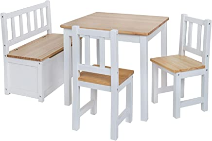Children s Furniture Set  Chairs and One Chest Bench made from Nordic Pine  Top Quality Nursery Furniture Set including Bench Seat with Storage Compartment