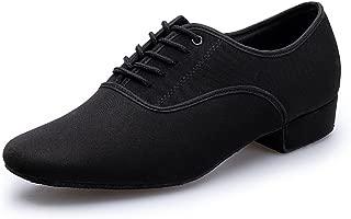 KAI-ROAD Ballroom Dance Shoes Men Latin Salsa Practice Social Dancing Shoes 1 inch, Black
