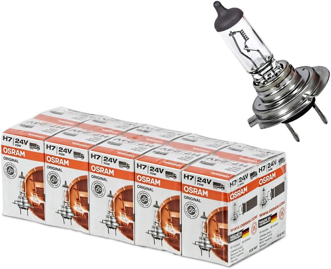 10 X Osram H7 Lampe 24v 70w E1 Made In Germany 24 Volt 70 Watt 64215 H7 Lamp Auto