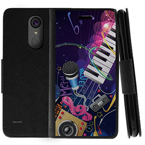 TurtleArmor   Compatible with LG Stylo 3 Case   LG Stylus 3 Case   Stylo 3 Plus Case   Flip Kickstand Wallet Case Leather Cover with Card Slots Music - Music Band