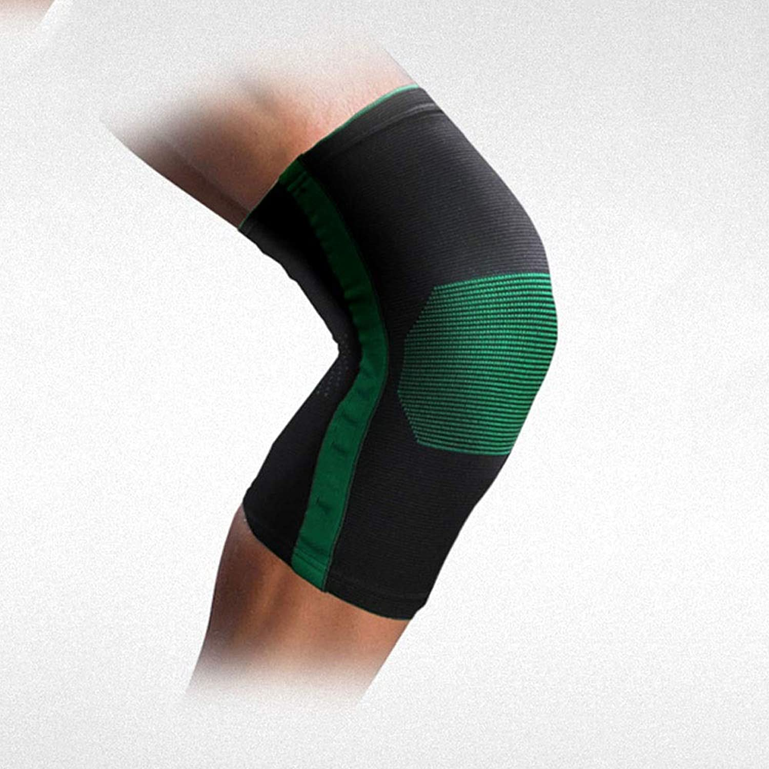 Sports Knee Pads Basketball Warm Badminton Running Football Riding Dance Predective Gear Thin Men and Women Outdoor Sports Two Support (Single only) (color   Green, Size   S)