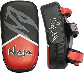 Naja Extreme Muay Thai Pad for Training, Curved Kickboxing, MMA, Taekwondo, Kicking Kick Shield Punching, Striking, Foot, Knee and Elbow Target