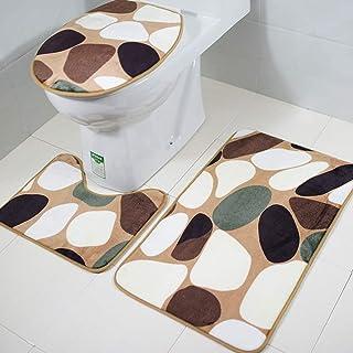 Nueva alfombra de baño antideslizante de comercio exterior europea y estadounidense alfombra de inodoro alfombra de piso de inodoro de tres piezas Venta transfronteriza de Amazon SY163 Los 45 * 75cm