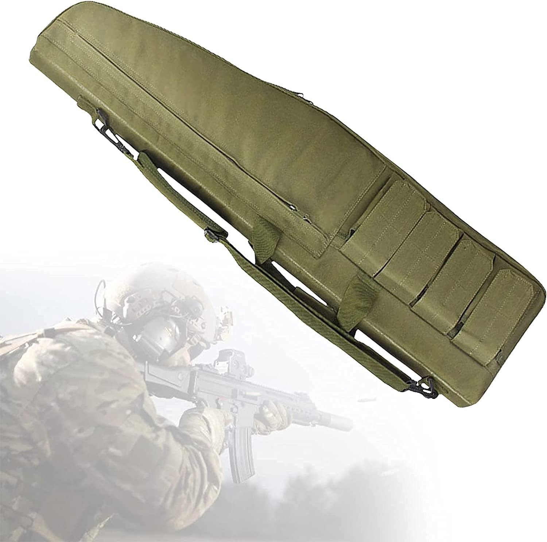NKTJFUR Caja de rifle suave de un solo hombro, estuche de pistola de carga suave con 4 bolsillos externos de revistas, protección de esponja interna, bolsa de gama de pistola táctica para Airsoft y ot