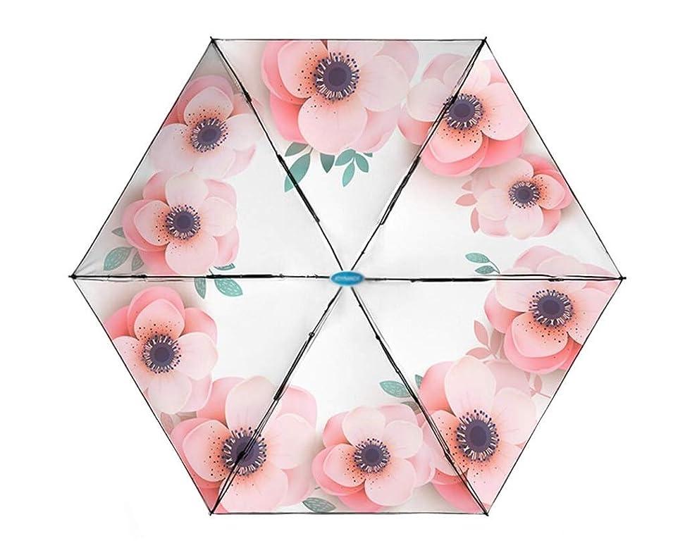 ひばり潜むデッドロックAO-Umbrellas チタンシルバー 5つ折り傘 女性 ミニ ポータブル パラソル 超紫外線対策 折りたたみ傘 複数のパターンオプション 10046