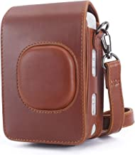 Phetium Protective Case Compatible with Instax Mini Liplay Hybrid Instant Camera and Printer, Soft PU Leather Bag with Removable/Adjustable Shoulder Strap (Brown)