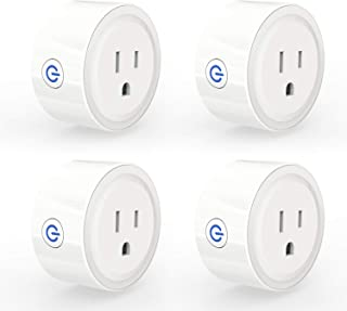 3Stone [2019 Upgrade] Smart Plug Mini, No Hub Required, Wi-Fi, Compatible with Amazon Alexa, Control your Devices from Anywhere (4 Pack)