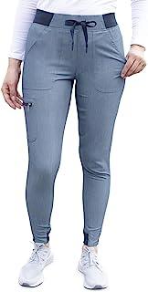 Adar Pro Heather Scrubs For Women - Ultimate Yoga Jogger Scrub Pants