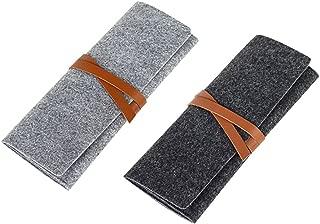 NUOLUX Pencil Holder,Pen Case Organizers,Pouch Storage Bag Foldable Cosmetic Bags,2pcs