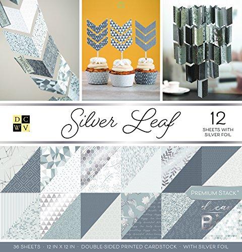 double face avec silver shimmer. 50 A4 170gsm blanc perlée carte